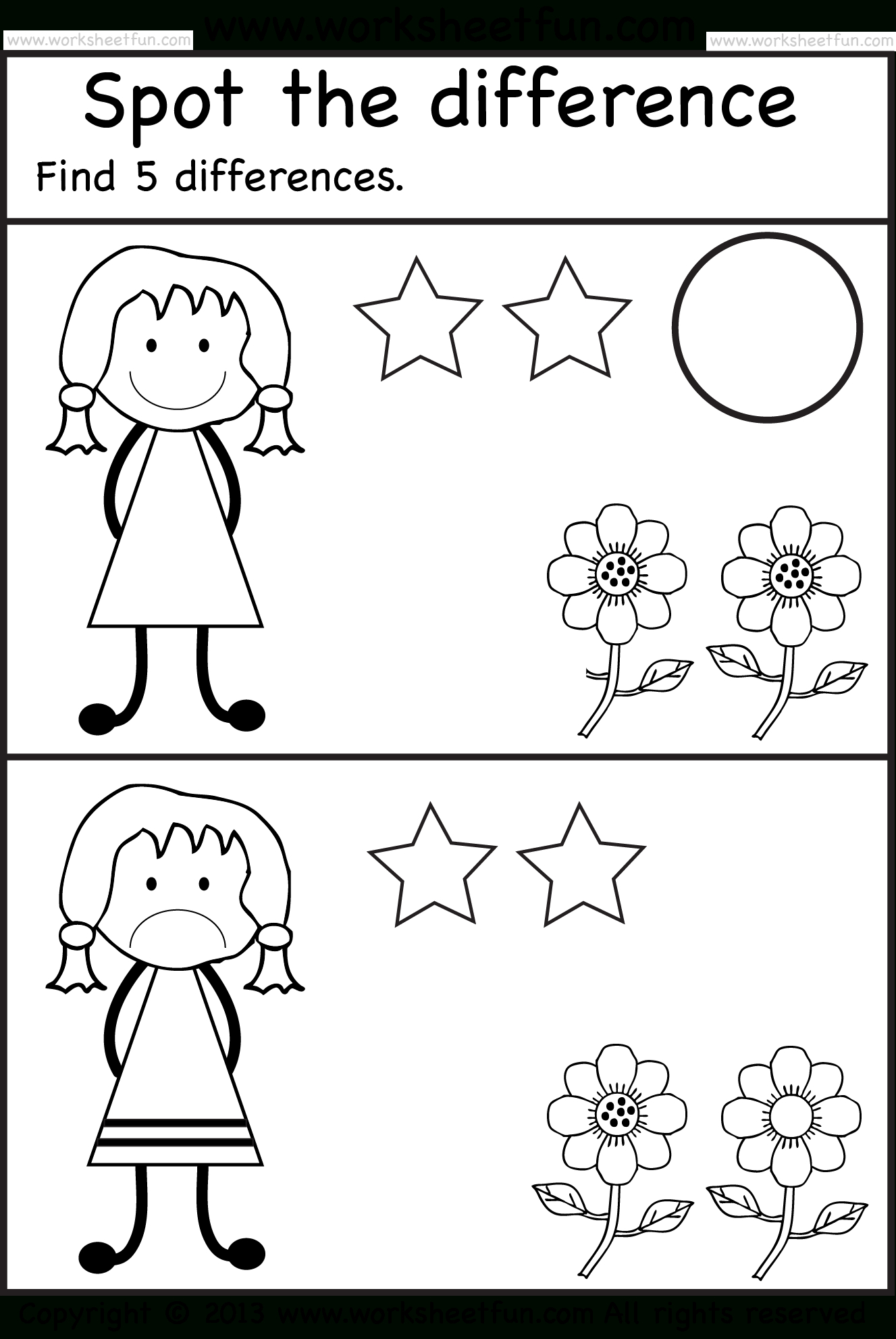 Spot The Differences | Pre K Activities | Pinterest | Preschool - Free Printable Spot The Difference For Kids