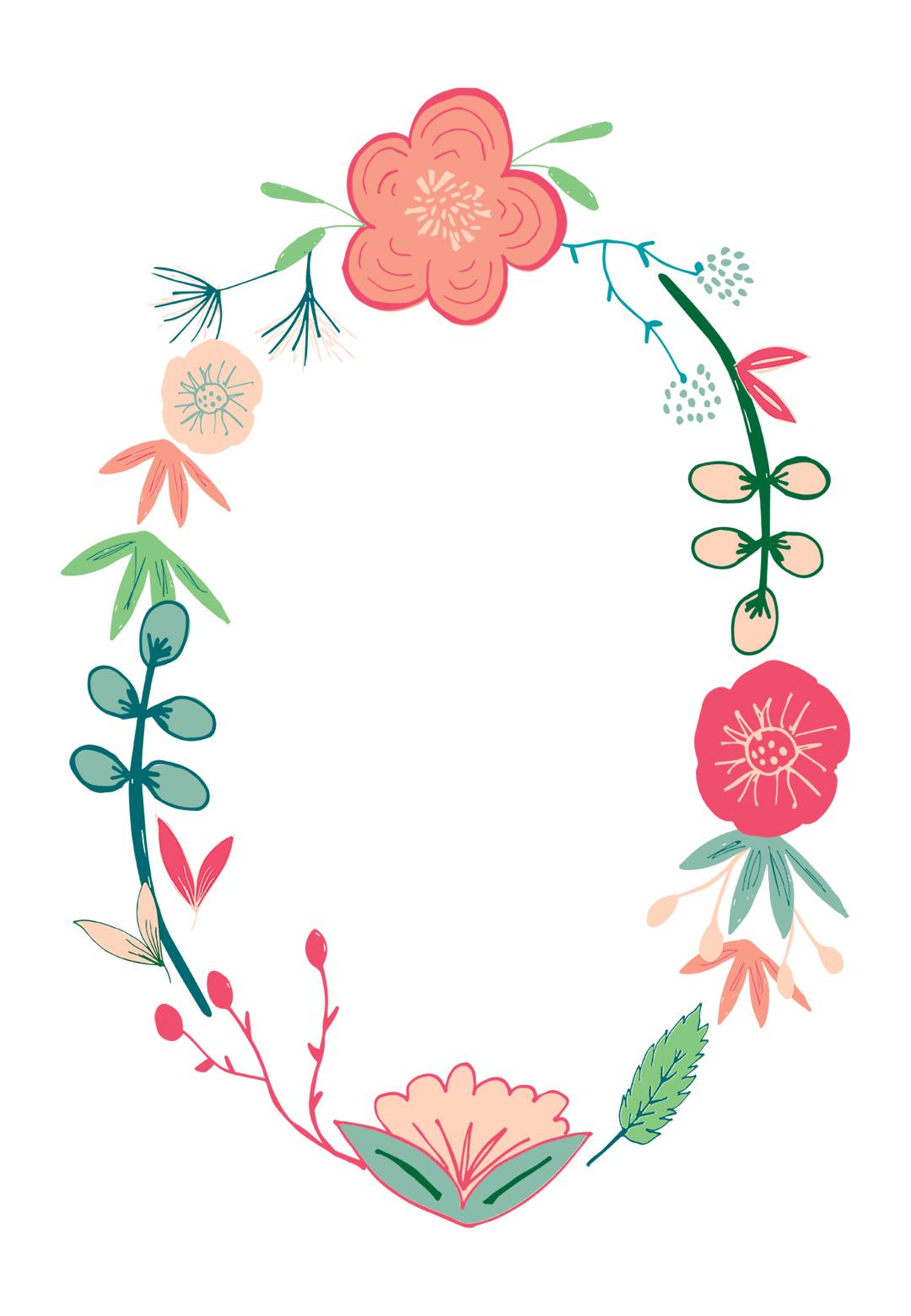Spring Flowers - Free Printable Birthday Invitation Template - Free Printable Birthday Invitation Templates