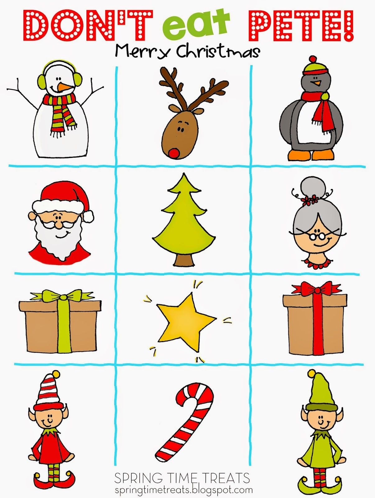 Spring Time Treats: Free Christmas Don't Eat Pete   After School - Don T Eat Pete Free Printable