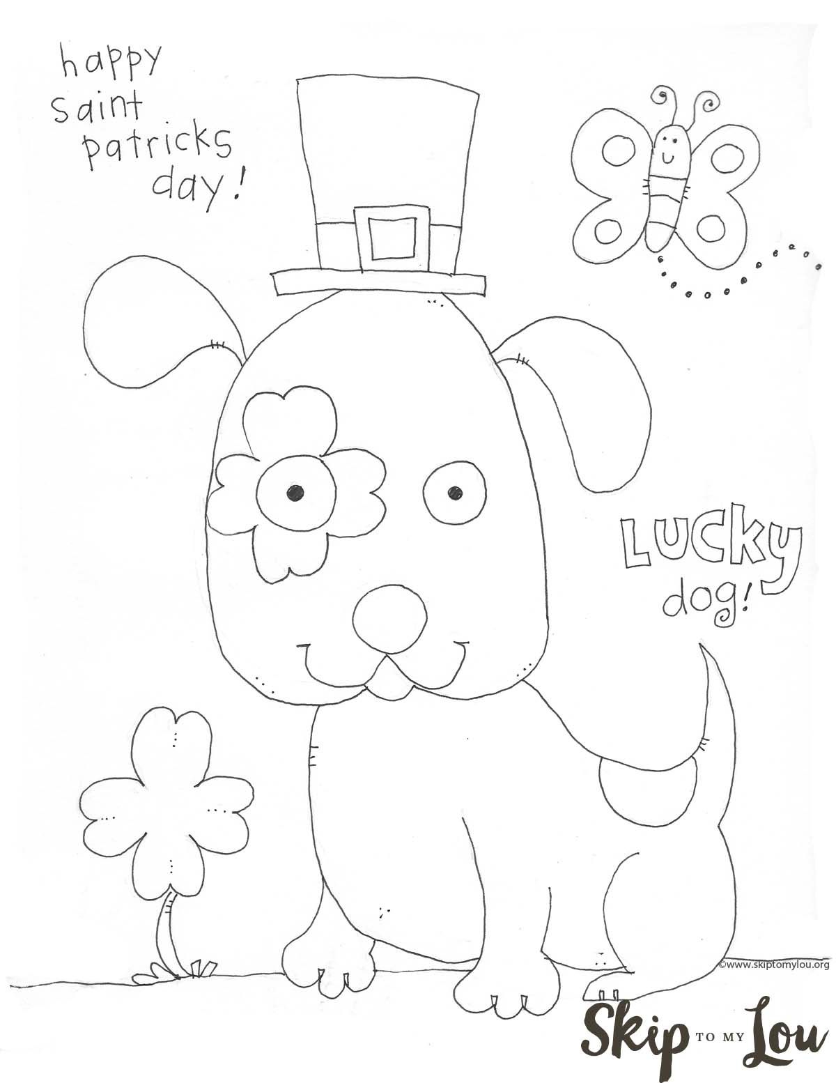 St. Patrick's Day Coloring Page Preschool- Free Printable | St - Free Printable St Patrick Day Coloring Pages
