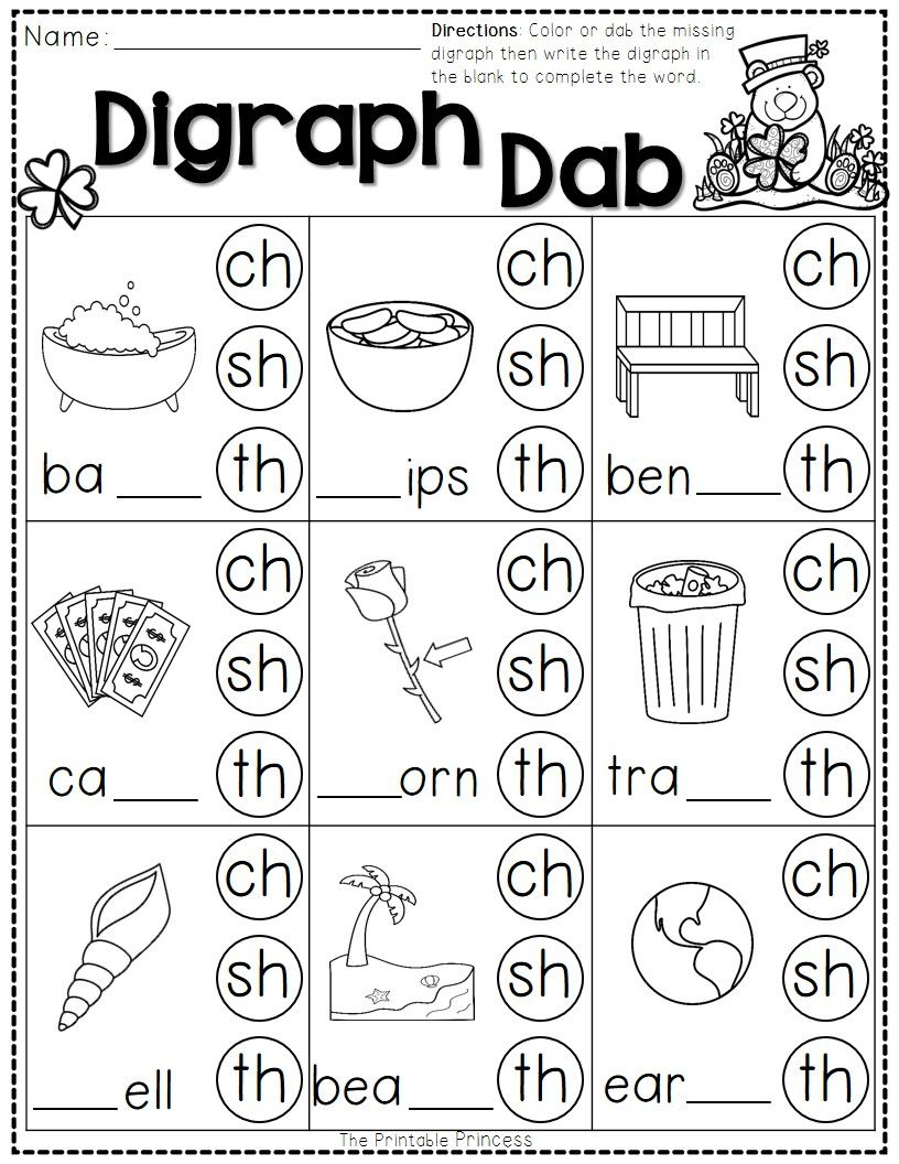 St. Patrick's Day Math And Literacy No Prep Freebie | Reading - Jolly Phonics Worksheets Free Printable