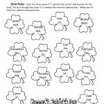 St. Patrick's Day Printouts And Worksheets   Free Printable St Patrick Day Worksheets