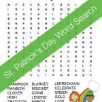 St. Patrick's Day Word Search Free Printable For Kids   Free Printable St Patrick Day Worksheets