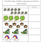 St. Patrick's Day Worksheets: St. Patrick's Day Counting Practice   Free Printable St Patrick Day Worksheets