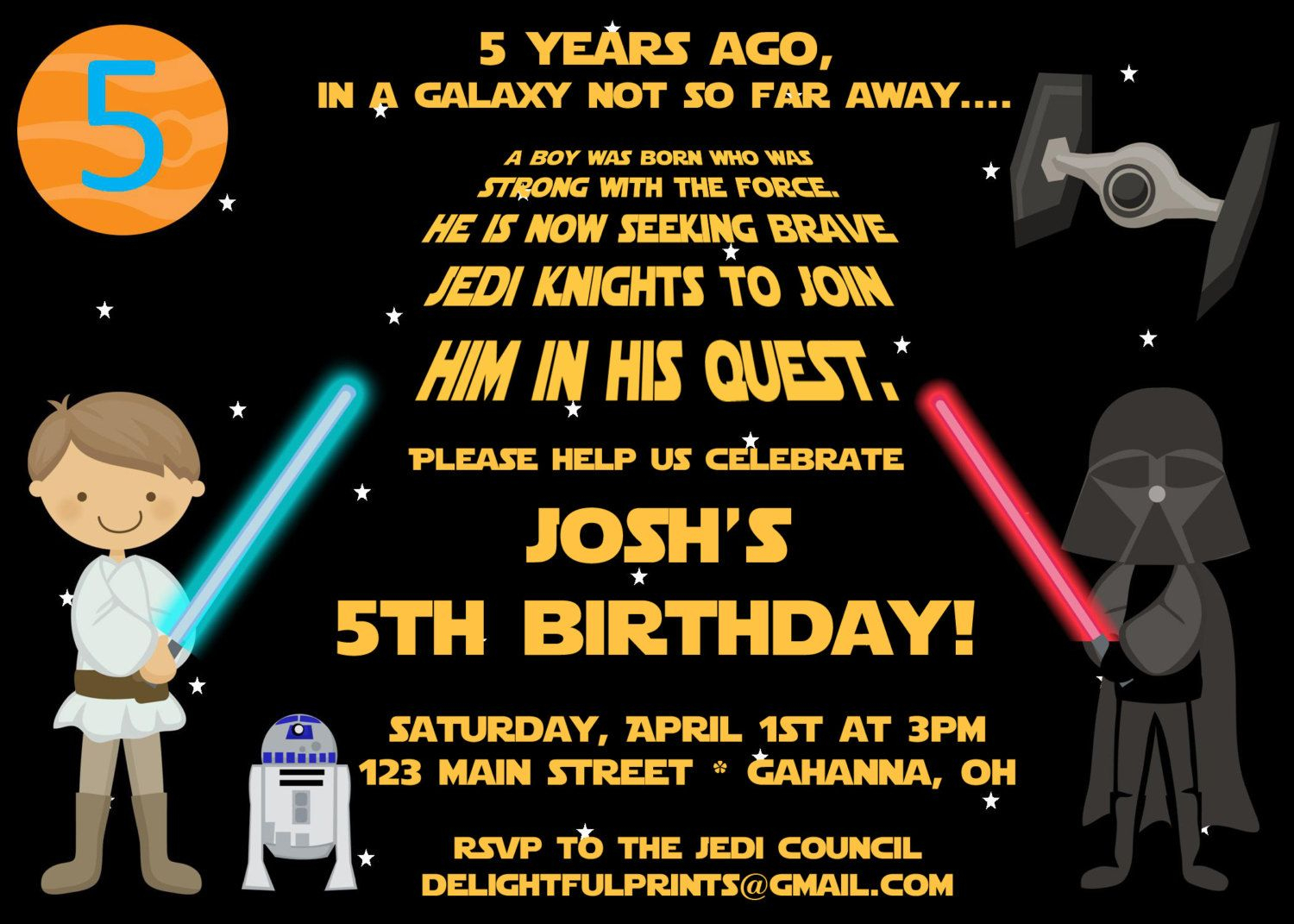Star Wars Birthday Party Invitations | Free Printable Birthday - Star Wars Invitations Free Printable