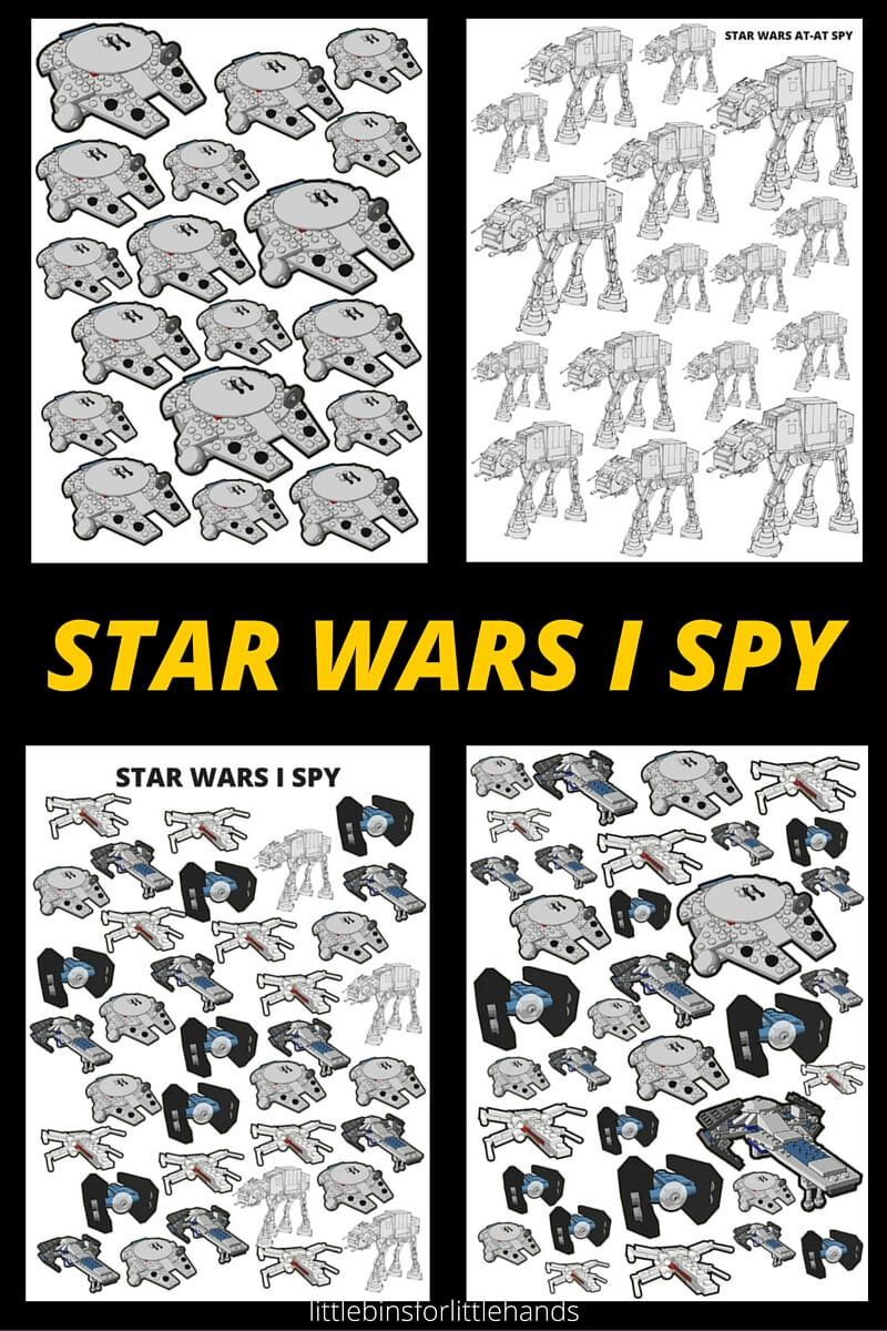 Star Wars I Spy Activities Free Printable Pages - Free Printable I Spy Puzzles
