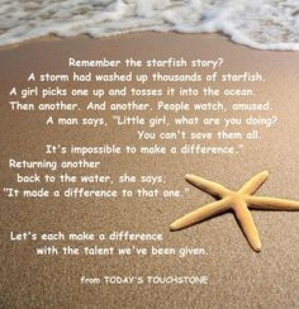 Starfish Story Printable - Bing Images | Social Work | Pinterest - Starfish Story Printable Free