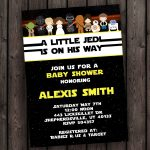 Starwars Baby Shower Invitation Star Wars Customized Wording | Etsy   Free Printable Star Wars Baby Shower Invites