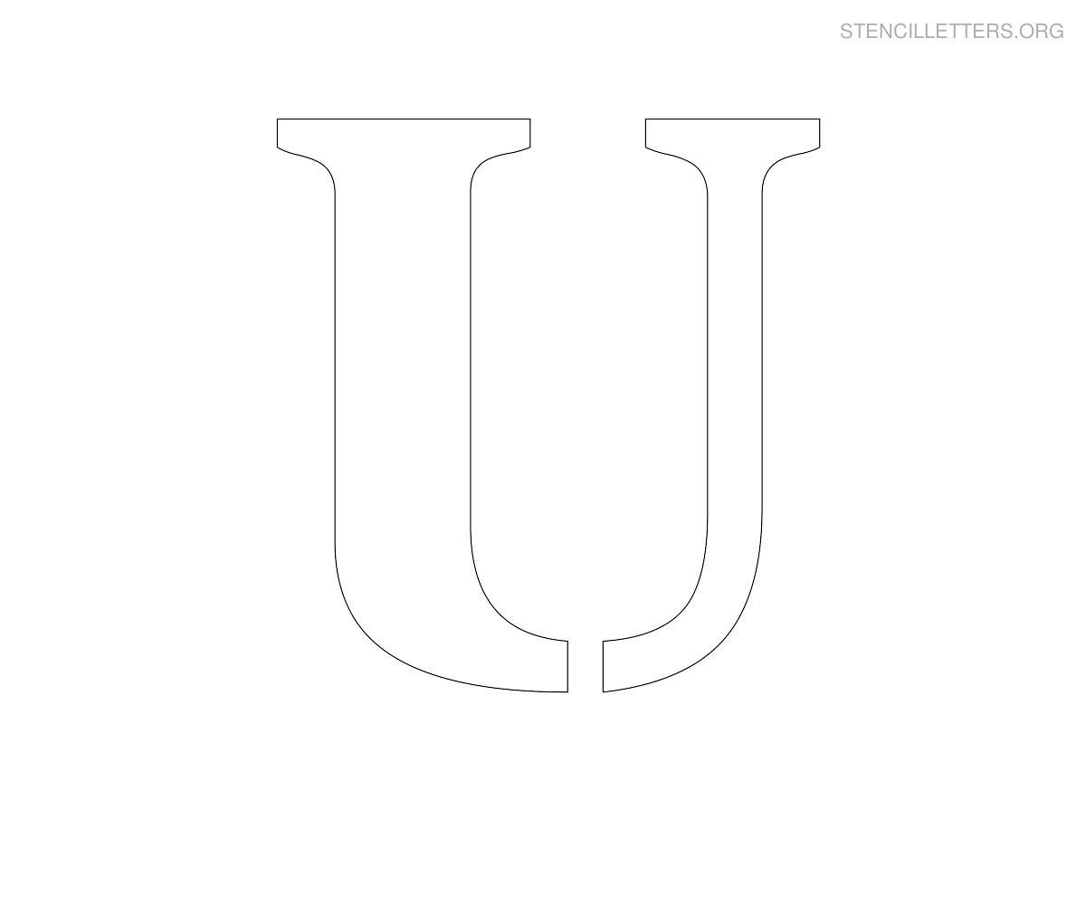 Stencil Letters U Printable Free U Stencils | Stencil Letters Org - Free Printable Large Letters