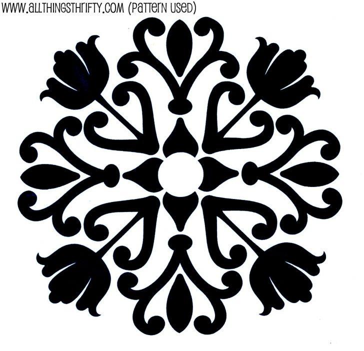 Damask Stencil Printable Free