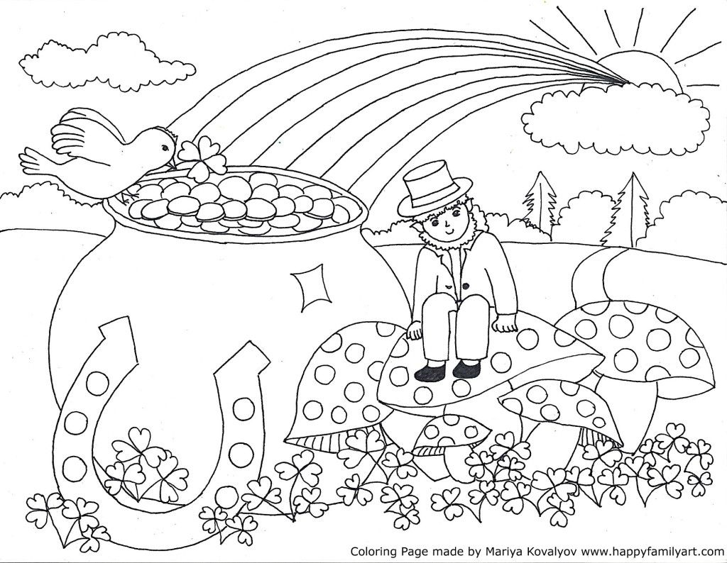 Stpatriksmedium - | Coloring Holidays | Pinterest | Coloring Pages - Free Printable Saint Patrick Coloring Pages