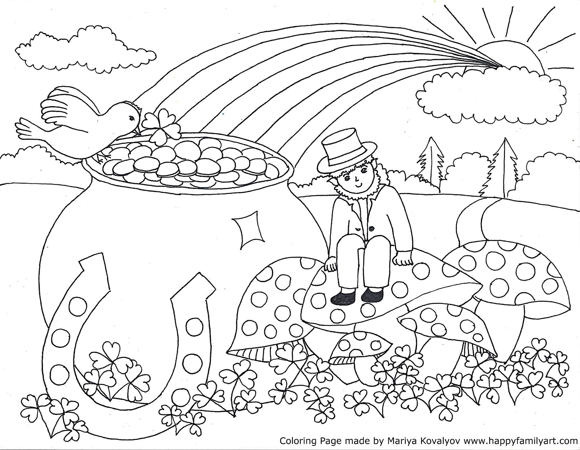 Stpatriksmedium - | Coloring Pages | Pinterest | St Patrick, St - Free Printable St Patrick Day Coloring Pages