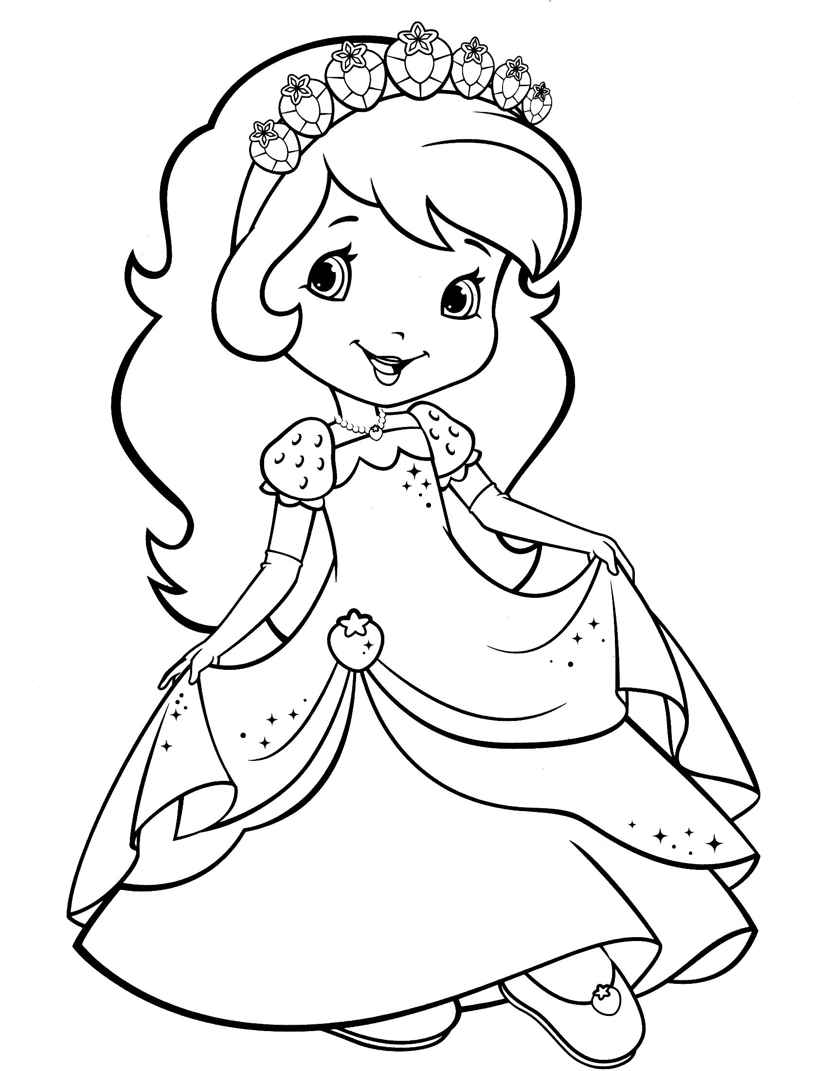 Strawberry Shortcake Coloring Page | Strawberry Shortcake Coloring - Strawberry Shortcake Coloring Pages Free Printable