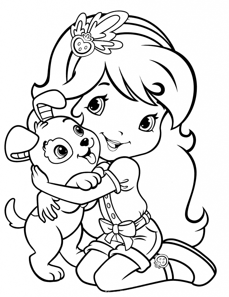 Strawberry Shortcake Coloring Pages Free Printable 4 #25832 - Strawberry Shortcake Coloring Pages Free Printable