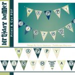 Stripes & Dots Birthday Banner Free Printable!   Or So She Says   Free Printable Birthday Banner