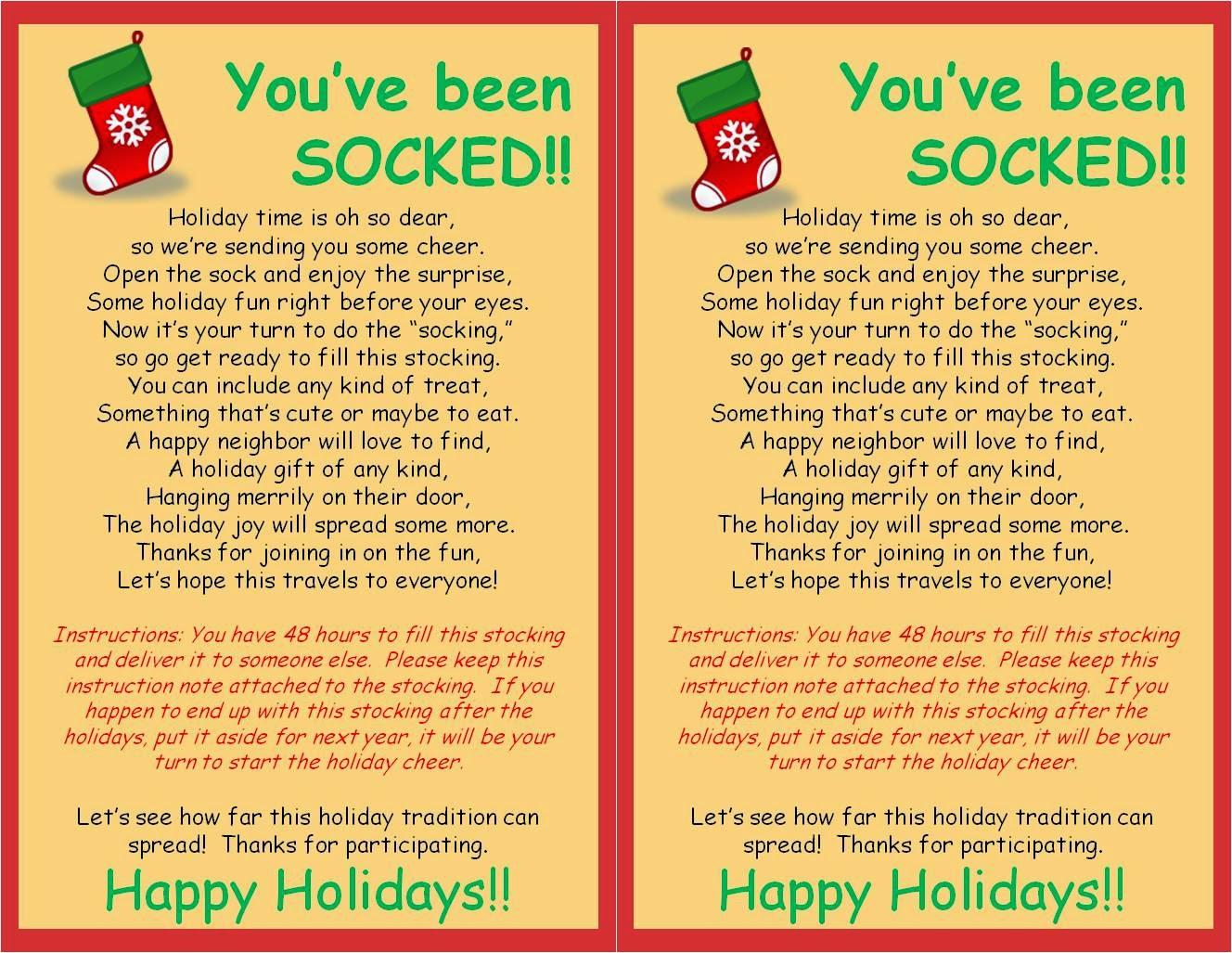 Strong Armor: Christmas Socking - You Ve Been Socked Free Printable