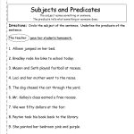 Subject Predicate Worksheets 2Nd Grade   Google Search | Kid Stuff   Free Printable Subject Predicate Worksheets 2Nd Grade
