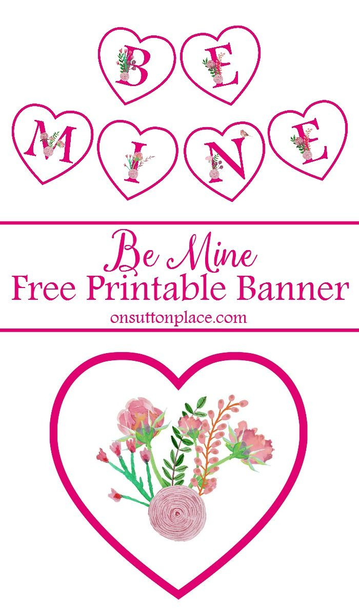 Subscribe To   On Sutton Place Printables   Pinterest   Valentine - Free Printable Valentine Decorations