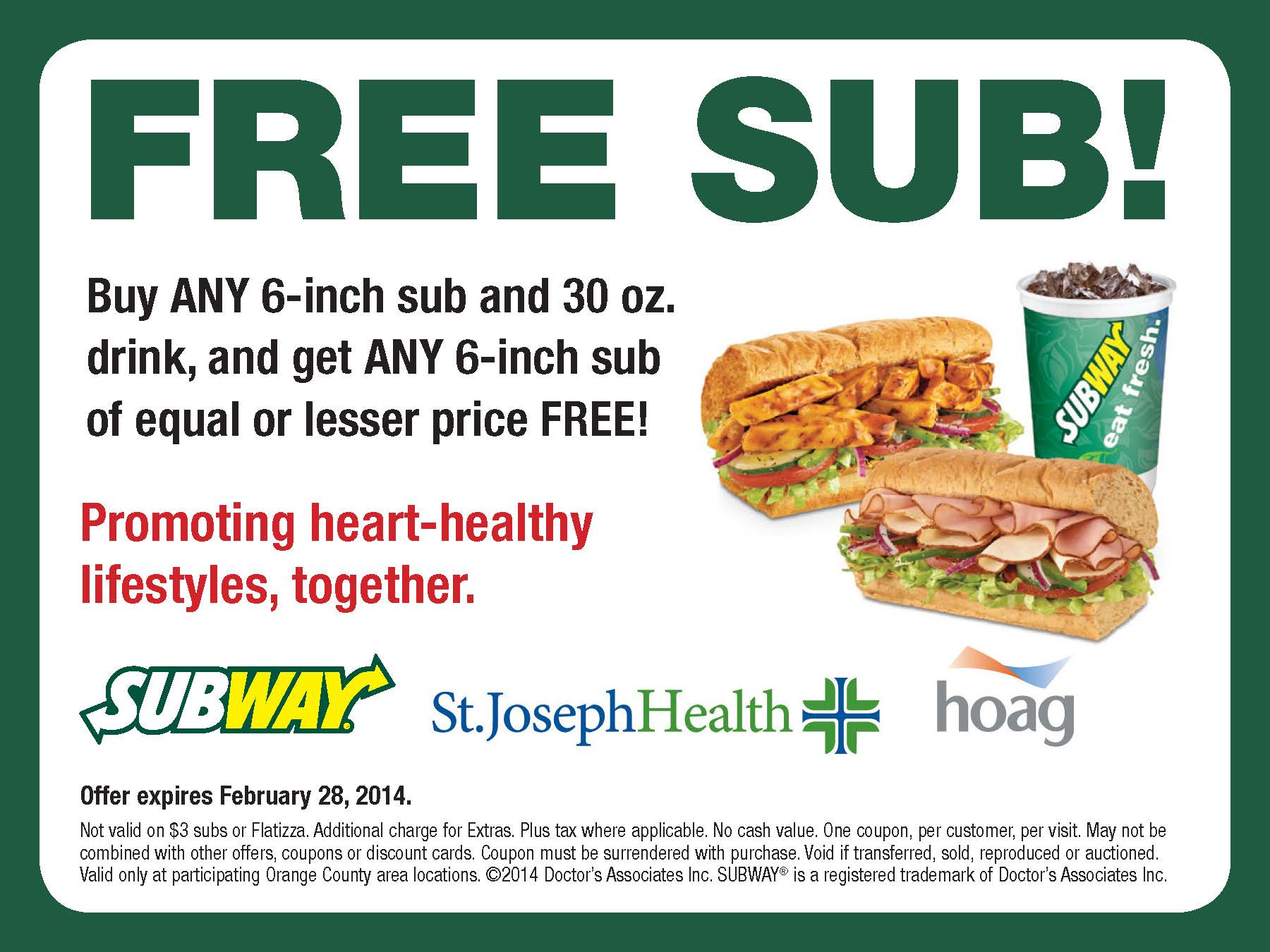Subway Printable Coupons Buy One Get One Free | Download Them Or Print - Bogo Free Coupons Printable