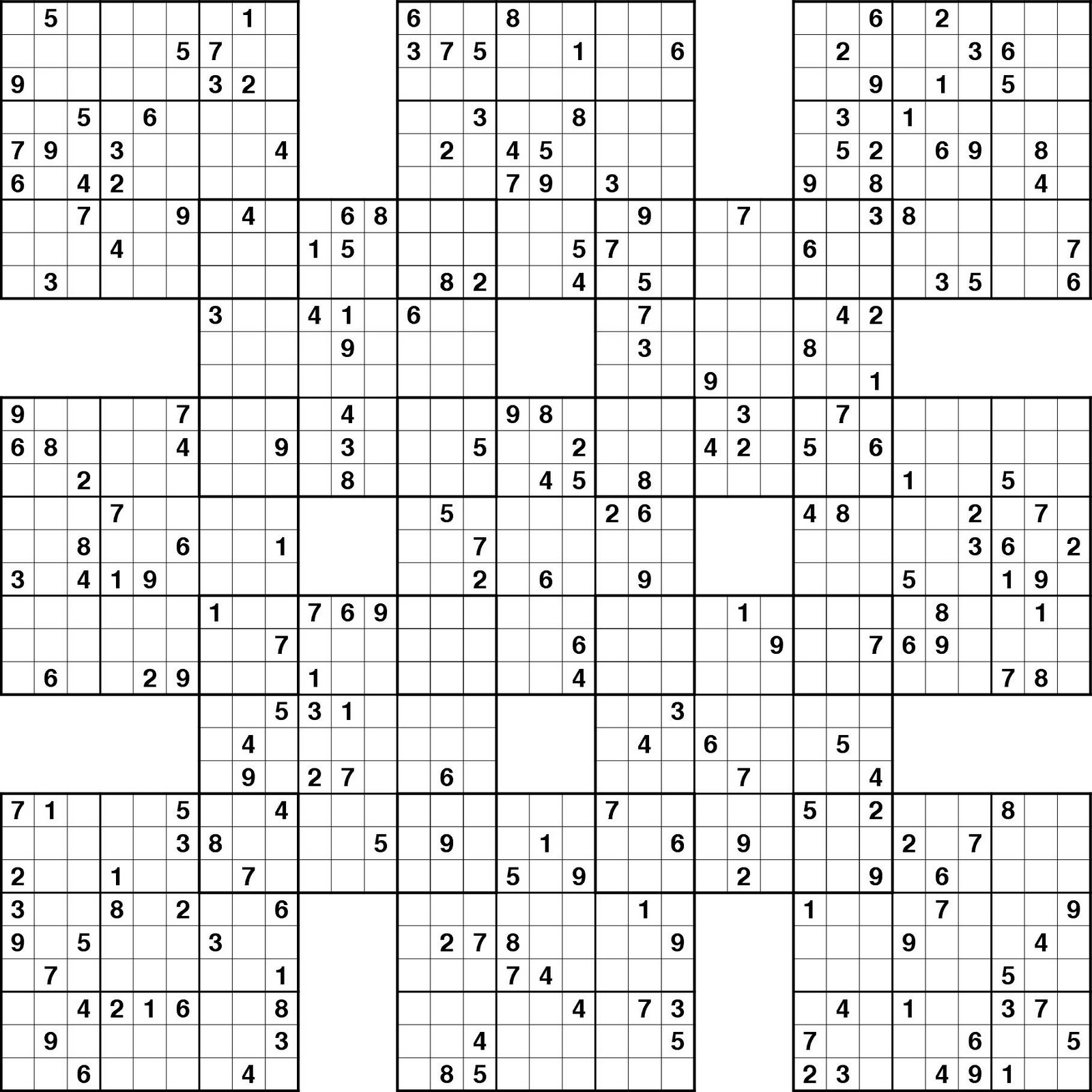 Sudoku Expert - Ecosia - Free Printable Samurai Sudoku