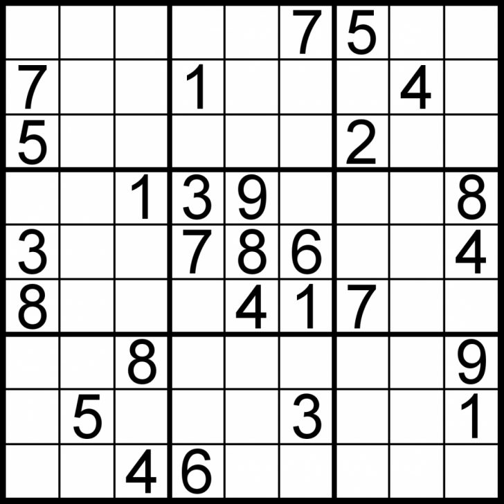 Free Printable Sudoku With Answers
