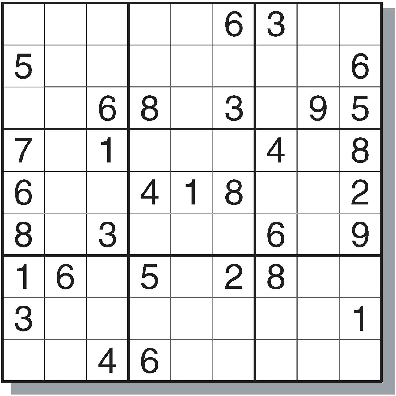 image regarding Free Printable Fill in Puzzles Online identified as Sudoku On the internet - Ecosia - Cost-free Printable Sudoku Puzzles