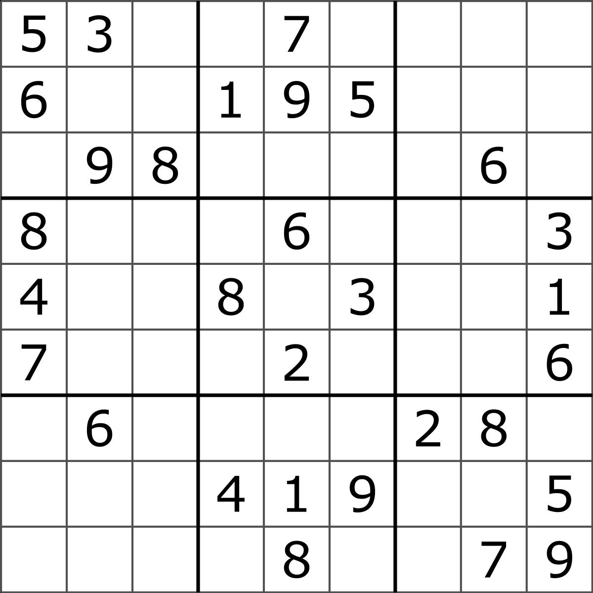 Sudoku - Wikipedia - Free Printable Sudoku Puzzles