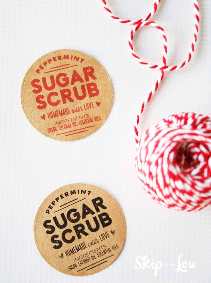Sugar Scrub Recipe With Free Printable Labels   Skip To My Lou - Free Printable Sugar Scrub Labels