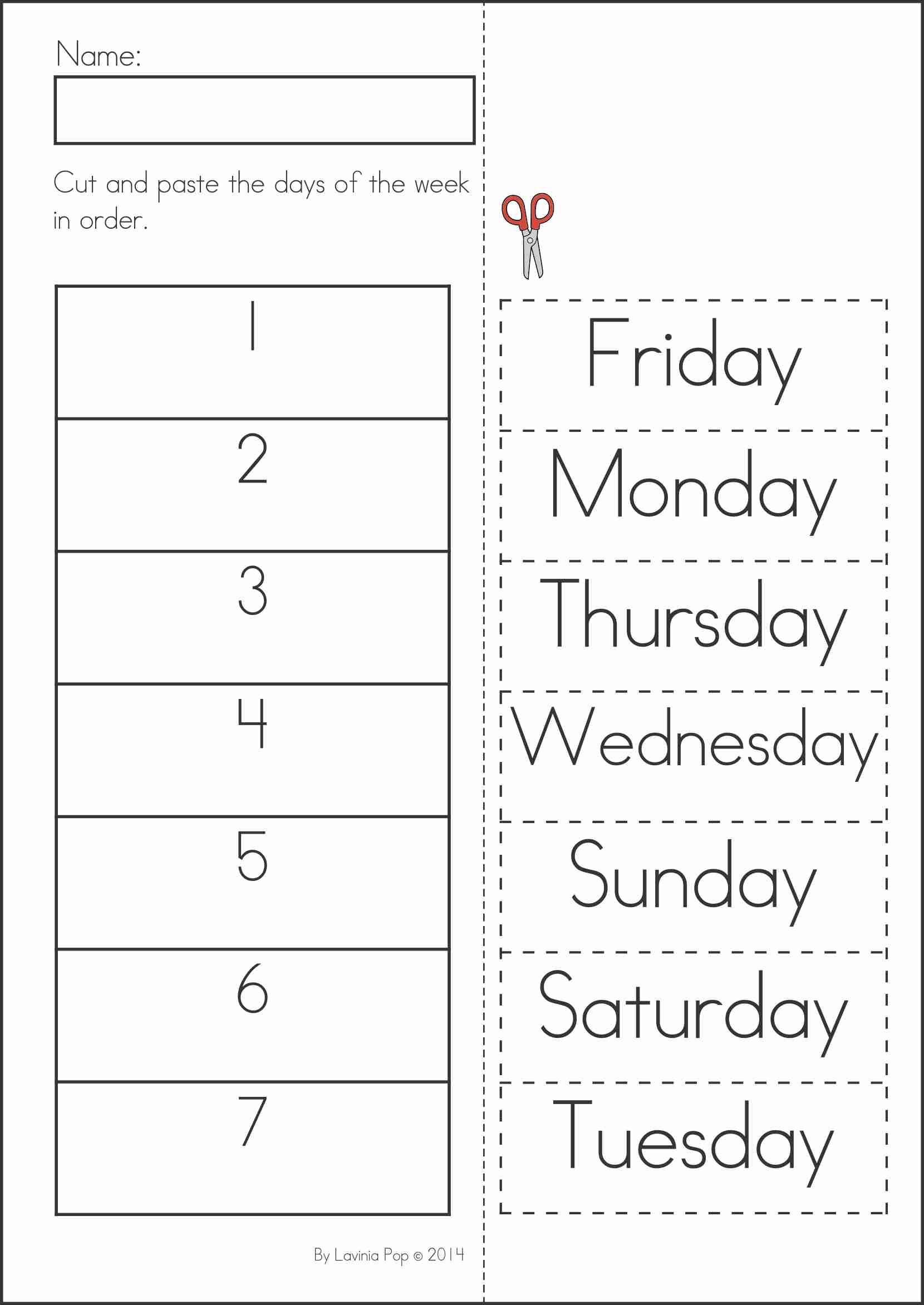 Summer Review Kindergarten Math & Literacy Worksheets & Activities - Free Printable Kindergarten Worksheets Cut And Paste