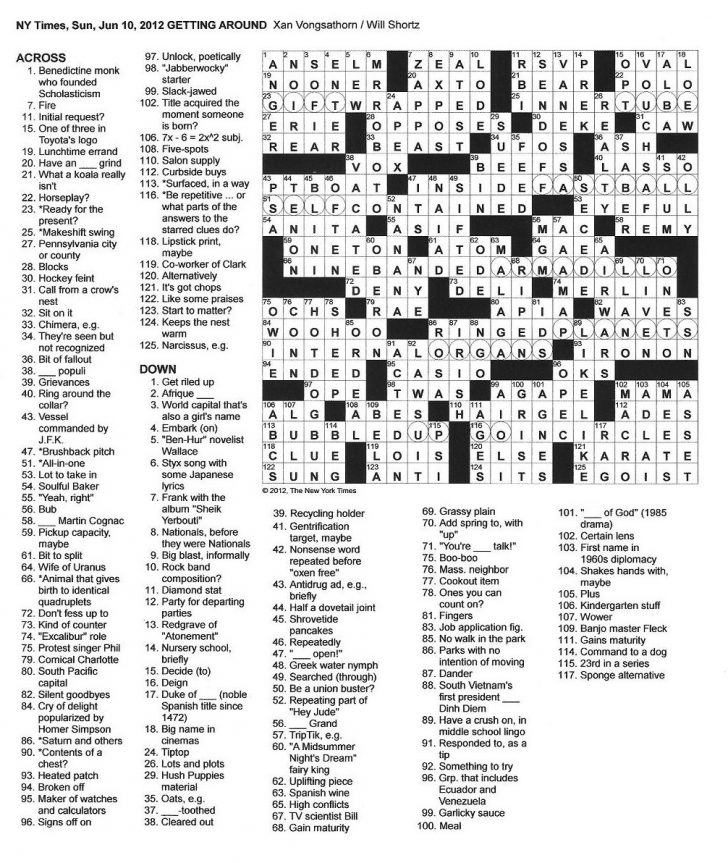 Free La Times Crossword Printable