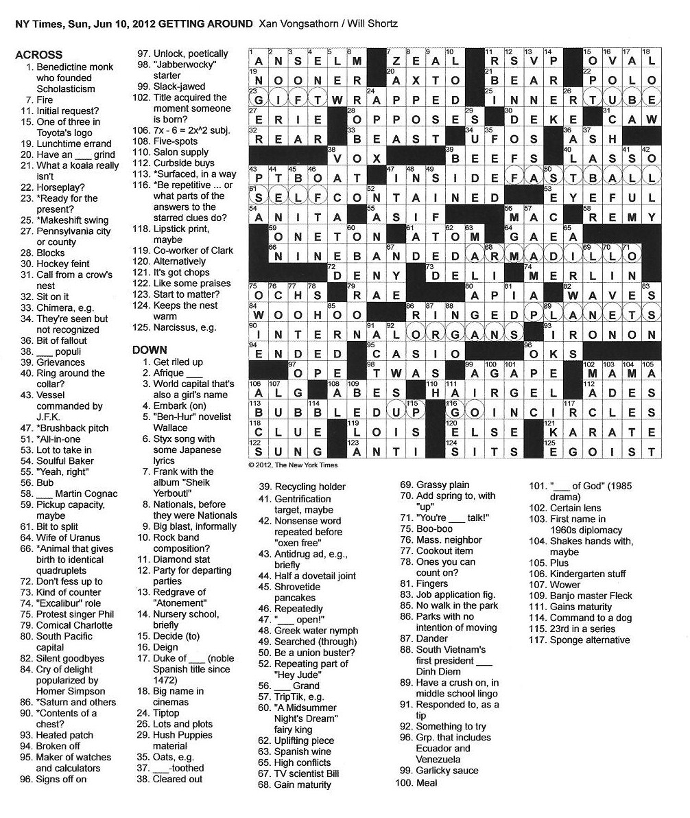 Sunday Crossword Puzzle Printable - Free La Times Crossword Printable
