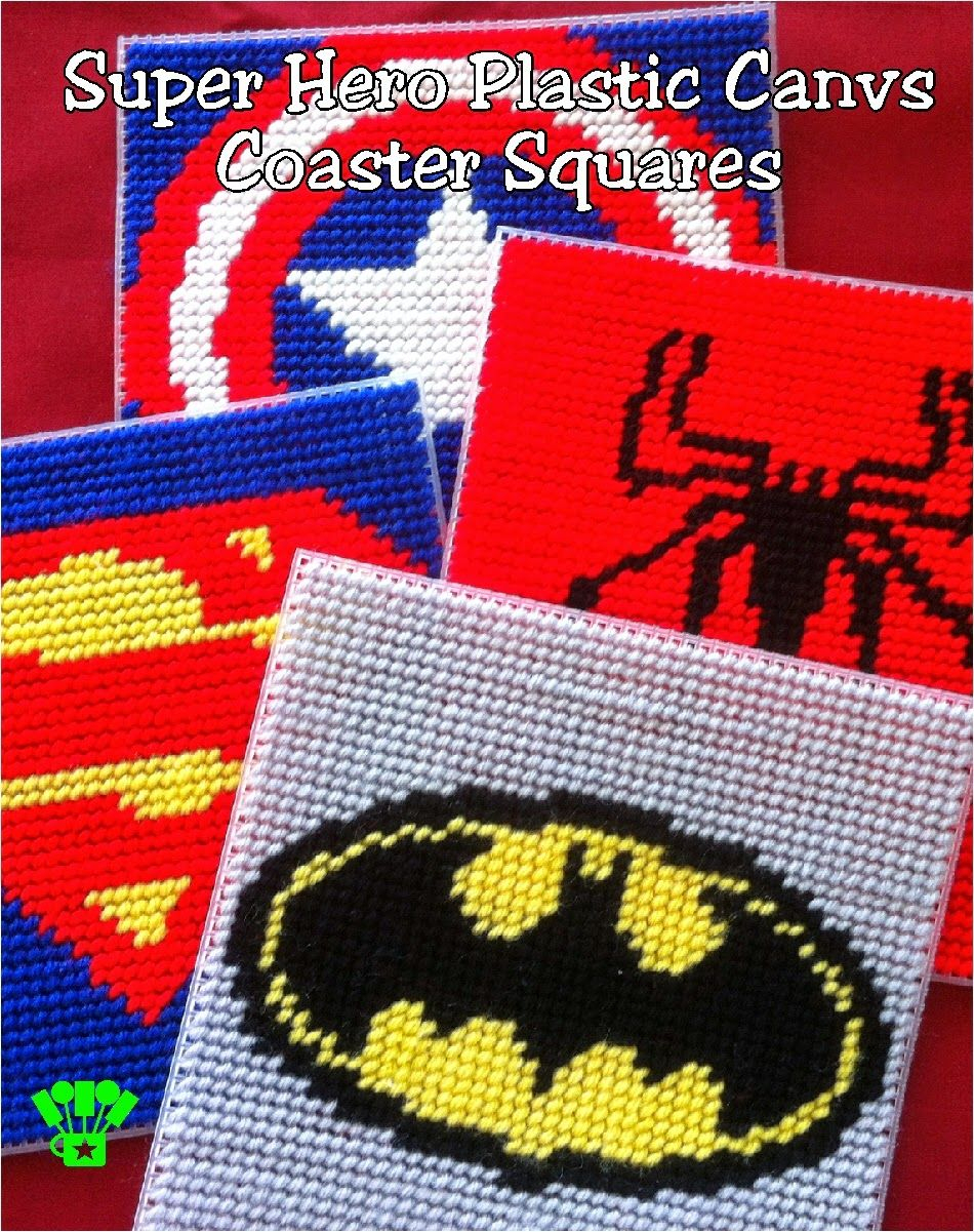 Super Hero Coaster Plastic Canvas Pattern. Maybe Make A Box Out Of - Printable Plastic Canvas Patterns Free Online