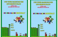Free Printable Super Mario Bros Invitations