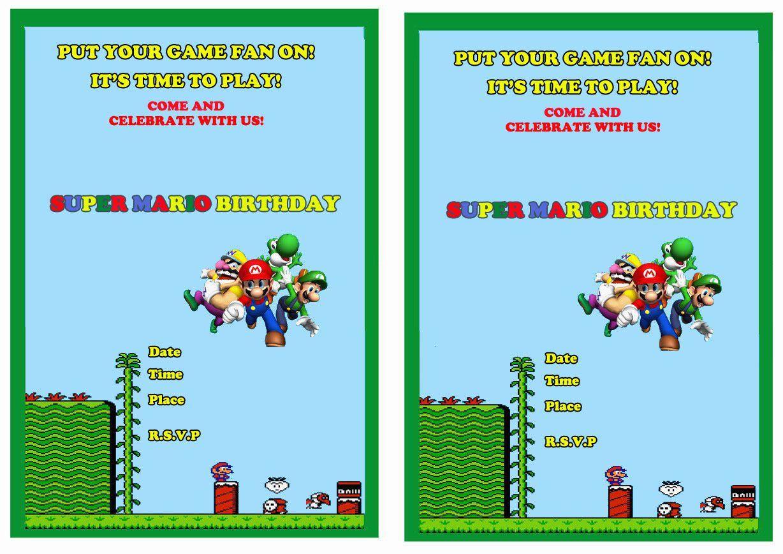 Super Mario Free Printable Birthday Invitations Click Image Below To - Free Printable Super Mario Bros Invitations