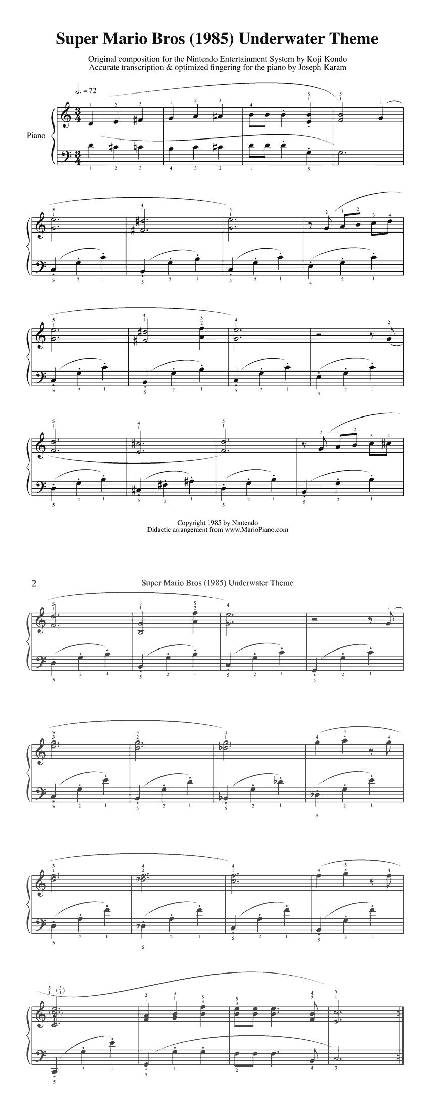 Super Mario Sheet Music | Zeldapalooza | Music, Clarinet Sheet Music - Free Printable Clarinet Sheet Music