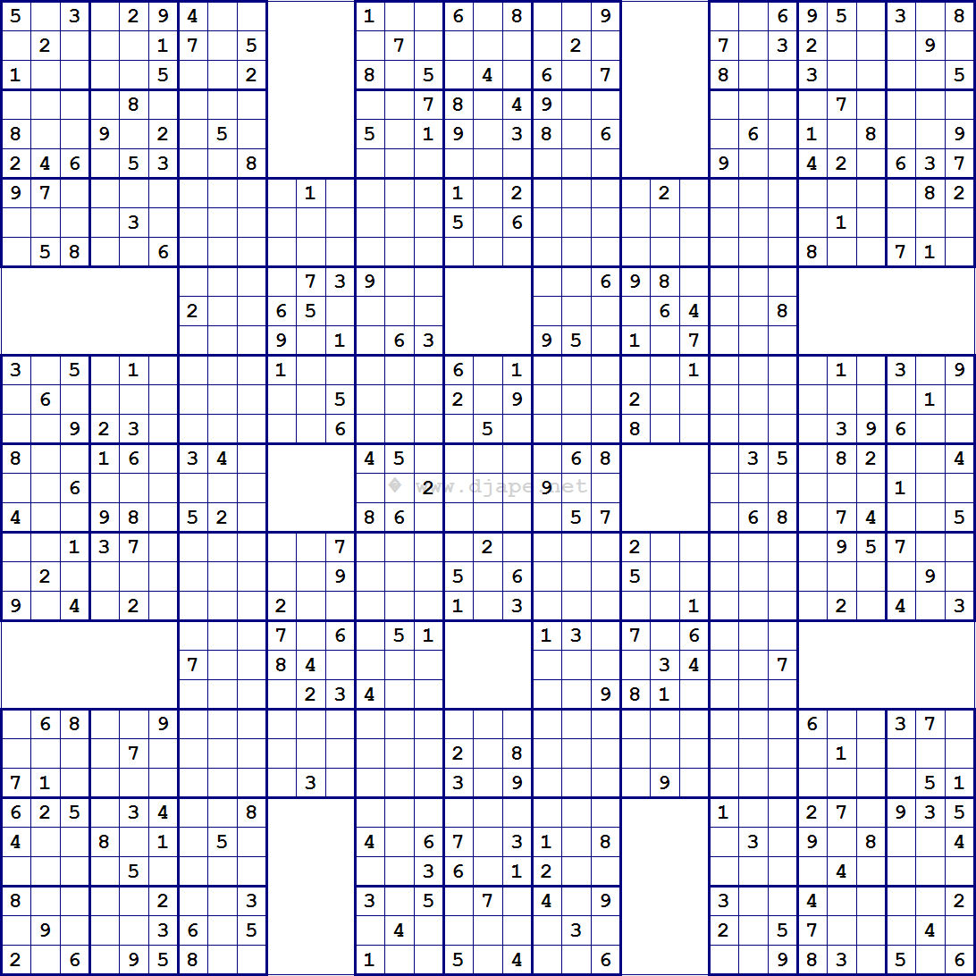 Super Samurai Sudoku 13 Grids | Sudoku | Pinterest | Sudoku Puzzles - Free Printable Sudoku 4 Per Page