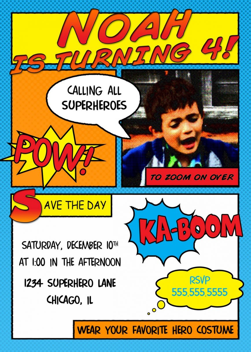 Superhero Birthday Invitations Free Printable Recommendation For - Free Printable Superman Invitations