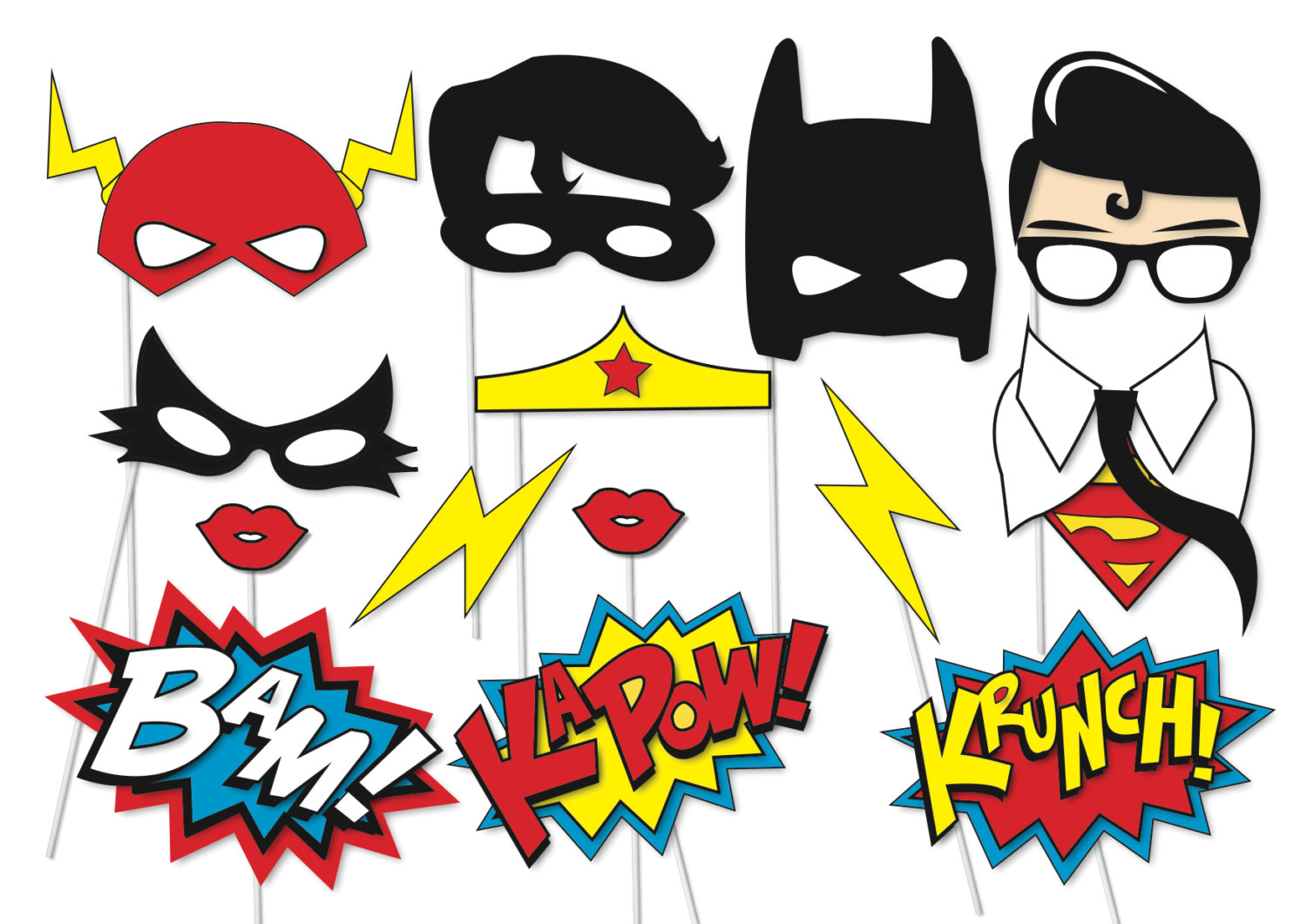 Superhero Party Props – Best Cars 2018 - Free Printable Superhero Photo Booth Props