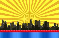Free Printable Superhero Skyline