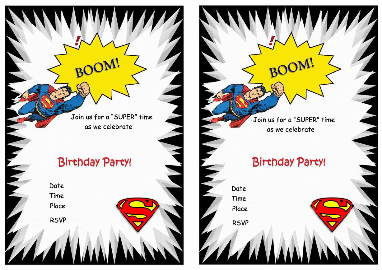 Superman Free Printable Birthday Party Invitations | Love It - Free Printable Superman Invitations