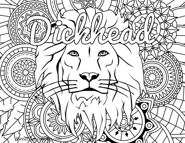 Swear Word Coloring Pages Printable Free