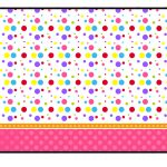 Sweet 16 Colored Dots For Girls: Free Printable Candy Bar Labels   Free Printable Sweet 16 Labels