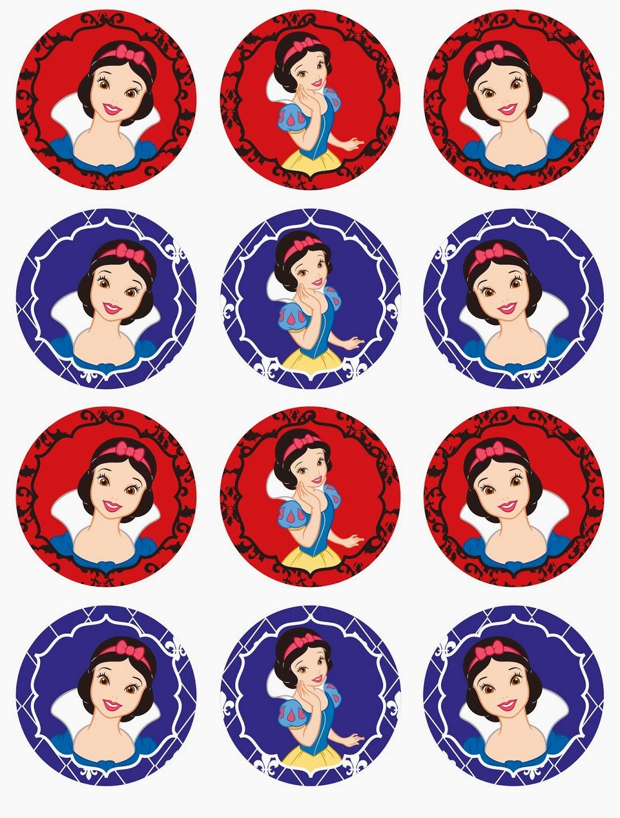 Sweet Snow White Free Printable Mini Kit. | Oh My Fiesta! In English - Free Printable Thomas The Train Cupcake Toppers