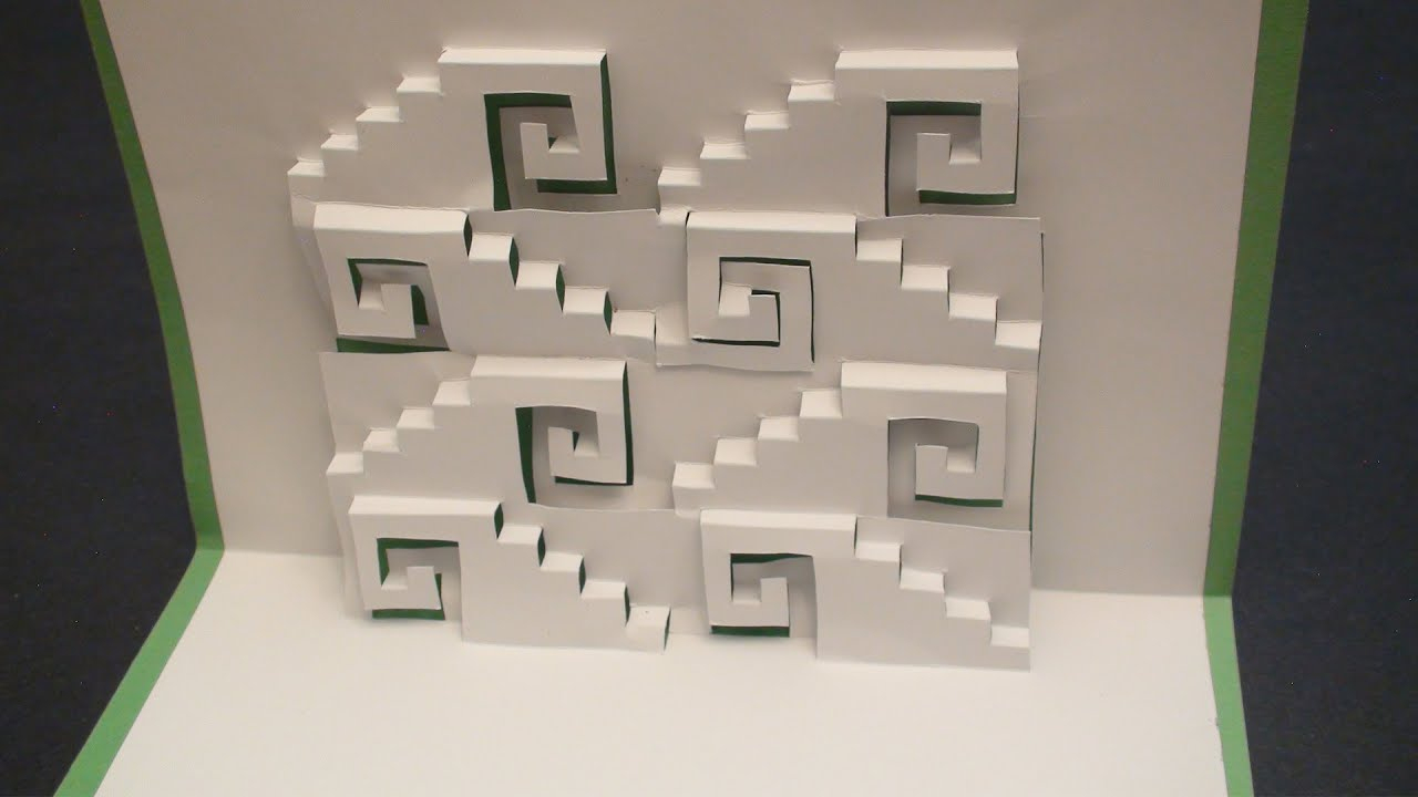 Swirly Steps Pop Up Card Kirgami | Free Template! - Youtube - Free Printable Kirigami Pop Up Card Patterns