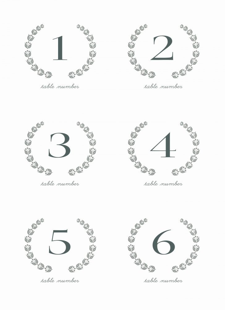 Free Printable Table Numbers 1 30