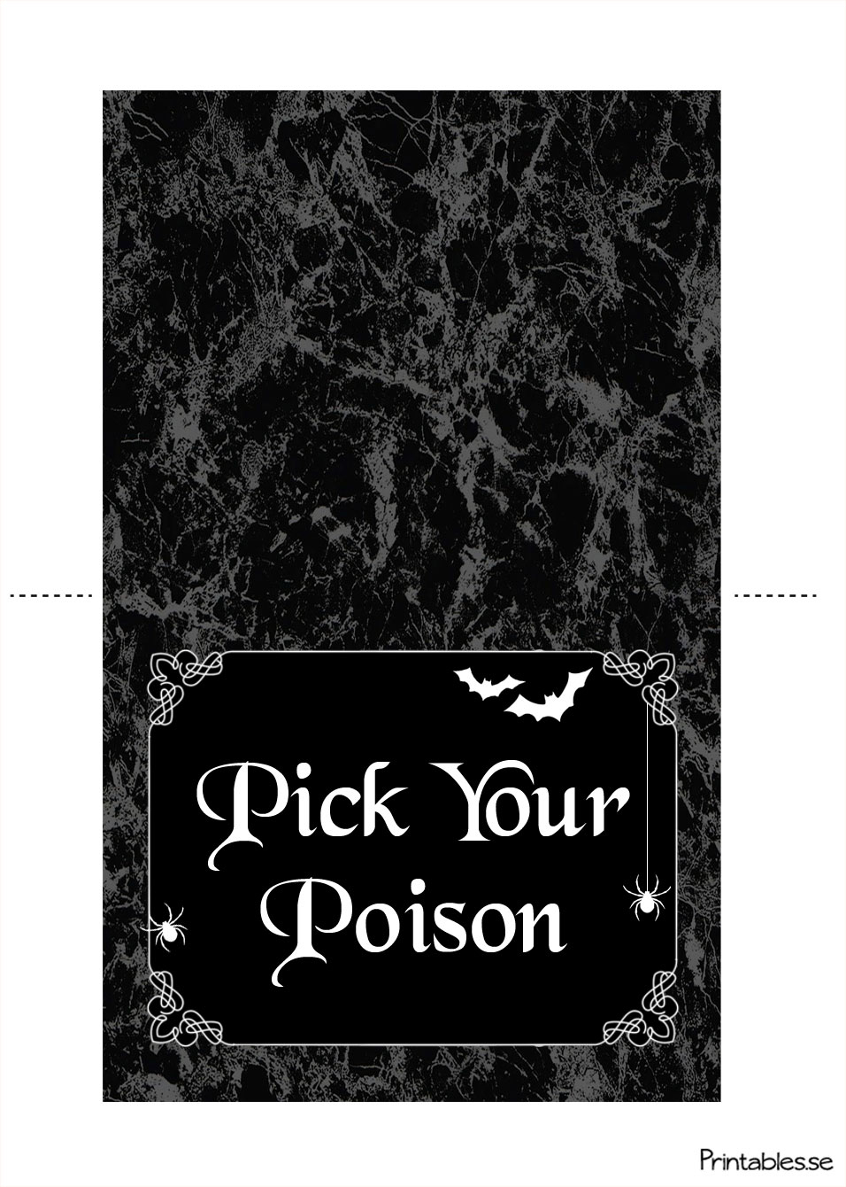 Table Tent For The Halloween Table (Free Printable) - Free Printable Table Tents