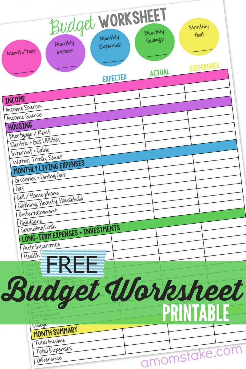 Take Charge Of Your Finances With This Free Family Budget Worksheet - Free Printable Family Budget