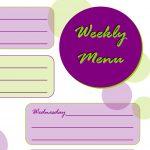 Taking Time To Create: Weekly Menu Planner {Free Printable}   Create A Menu Free Printable