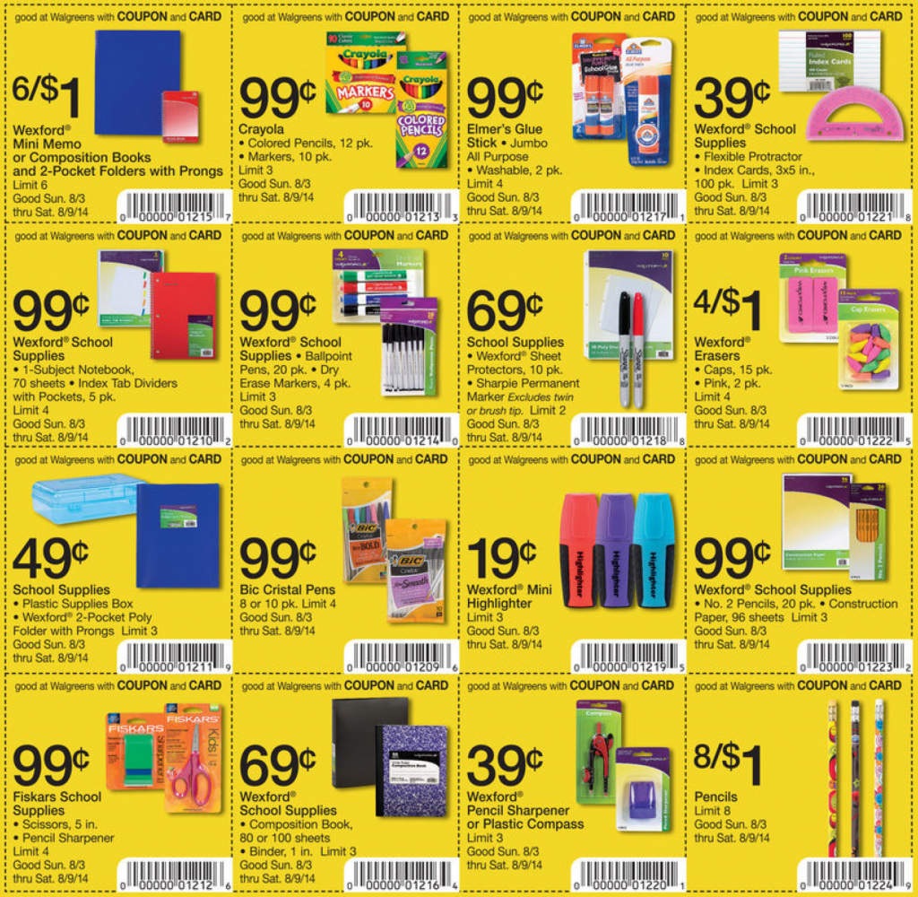 Target School Supplies Coupons 2018 : Car Seat Coupons Walmart For - Free Printable Coupons For School Supplies At Walmart
