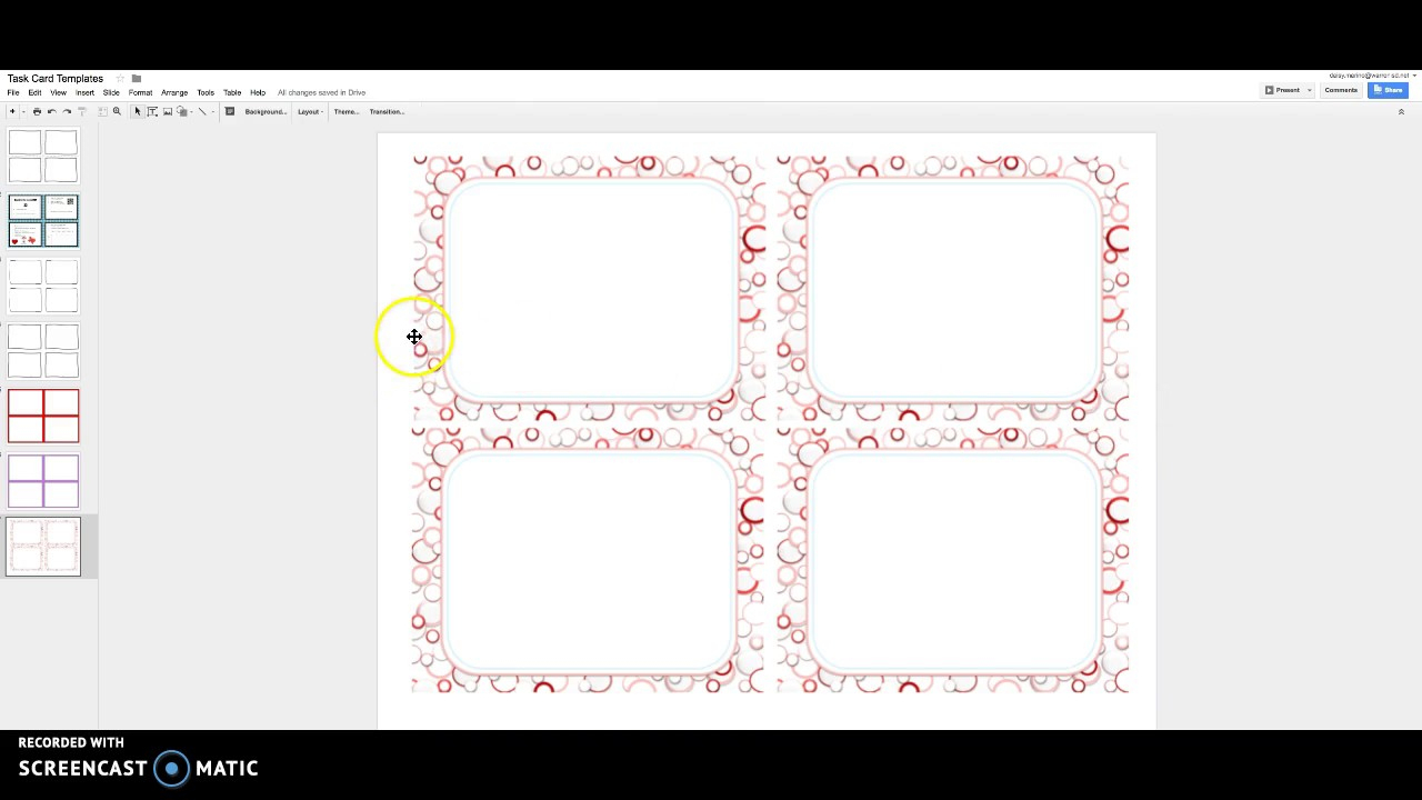 Task Cards With Google Slides - Youtube - Free Printable Blank Task Cards
